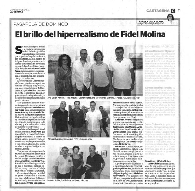 La Verdad (Murcia). 8 de septiembre de 2013.