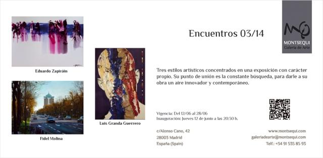 Encuentros 03/14. Galería Montsequi