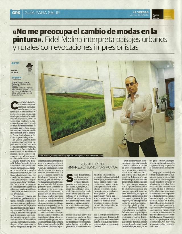 La Verdad (Murcia). 13 de septiembre de 2013.