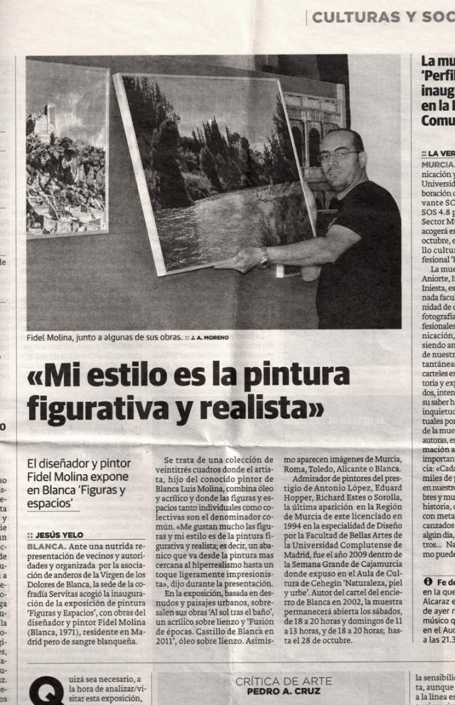 La Verdad (Murcia). 15 de octubre de 2011.